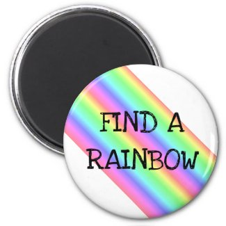 Find a Rainbow Day April 3rd Holiday Magnet