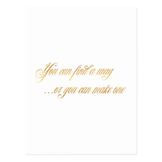 Find A Way Make One Quote Faux Gold Foil Quotes Postcard
