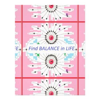 Find BALANCE in LIFE : Positive = Negative = balan Letterhead