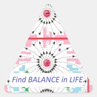 Find BALANCE in LIFE : Positive = Negative = balan Triangle Sticker