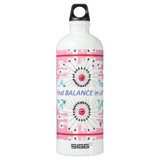 Find BALANCE in LIFE : Positive = Negative = balan Water Bottle