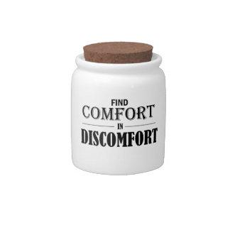 Find Comfort In Discomfort Candy Jar