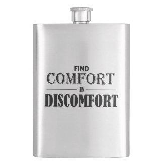 Find Comfort In Discomfort Hip Flask