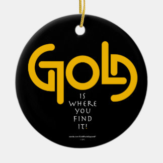 Find Gold Ambigram Christmas Tree Ornaments