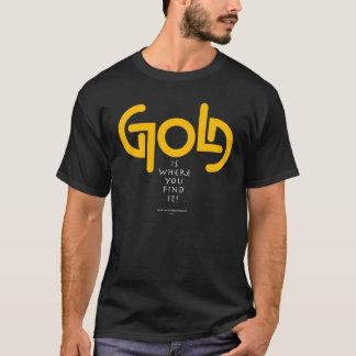 Find Gold Ambigram T-Shirt