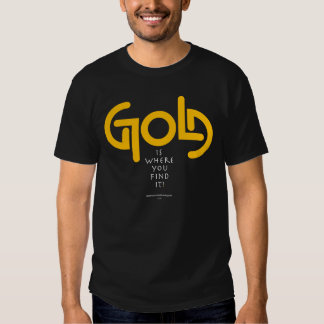 Find Gold Ambigram Tees