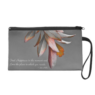 Find Happiness in the moment... Wristlet Purse