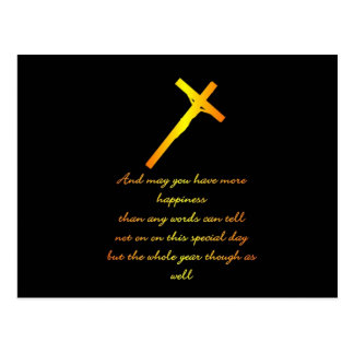 FIND HAPPINESS WITH JESUS POST CARD