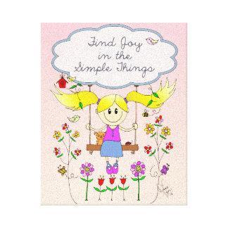 Find Joy in Simple Things Canvas Print