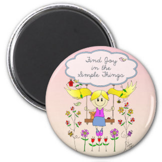 Find Joy in Simple Things Magnet