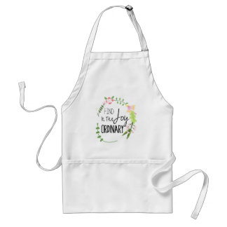 Find Joy In The Ordinary - Floral Wreath Adult Apron