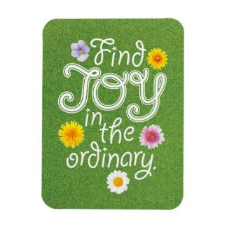 Find Joy in the Ordinary Inspirational Magnet