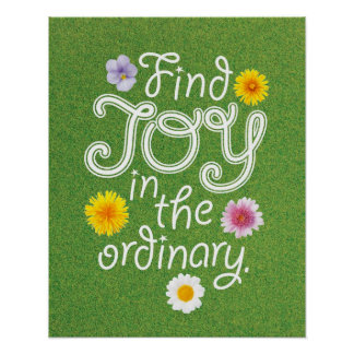 Find Joy in the Ordinary Inspirational Poster