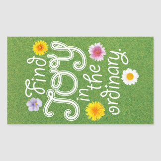 Find Joy in the Ordinary Inspirational Stickers
