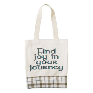 Find joy in your journey zazzle HEART tote bag