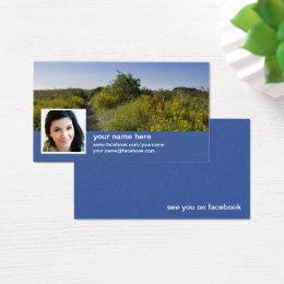 Facebook business cards templates zazzle find me on facebook cc0417 business card colourmoves