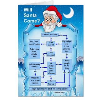 Find Out If Santa Will Be Visiting This Year Greeting Card