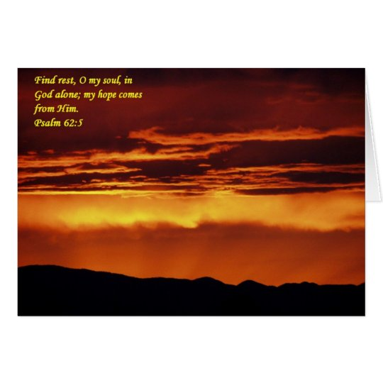 Find rest, O my soul, in God alone Card