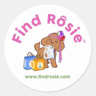 Find Rosie Stickers - Rosie with her passport