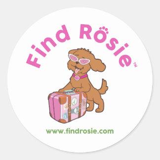 Find Rosie white stickers