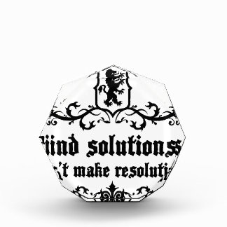 Find Solutions Donn't make Resolutions Award
