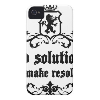 Find Solutions Donn't make Resolutions iPhone 4 Case-Mate Case