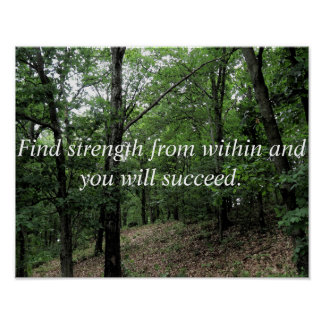 Find Strength From Within Inspirational Poster
