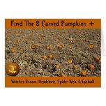 Find The 8 Carved Pumpkins + Card