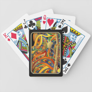 Find the Bird Abstract Art Playing Cards