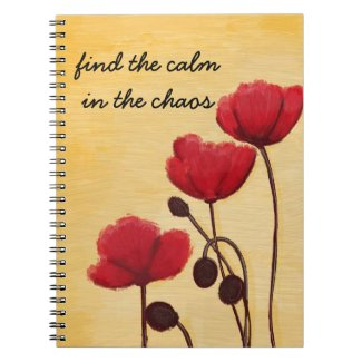 Find the Calm in the Chaos Poppy Journal