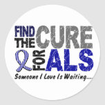 Find The Cure 1 ALS Classic Round Sticker