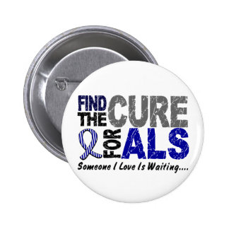 Find The Cure 1 ALS Pinback Button
