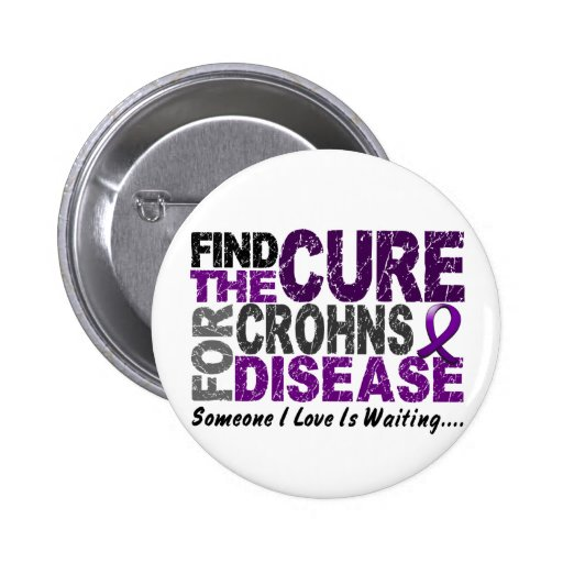 Find The Cure 1 CROHN'S DISEASE T-Shirts & Gifts Button