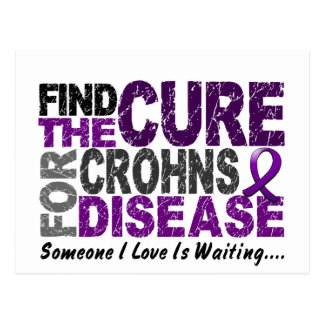 Find The Cure 1 CROHN'S DISEASE T-Shirts & Gifts Postcard