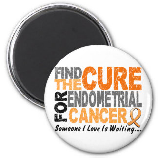 Find The Cure 1 ENDOMETRIAL CANCER T-Shirts & Gift 2 Inch Round Magnet