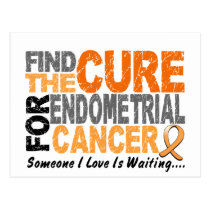 Find The Cure 1 ENDOMETRIAL CANCER T-Shirts & Gift Postcard