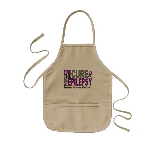 Find The Cure 1 EPILEPSY T-Shirts & Gifts Kids' Apron