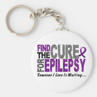 Find The Cure 1 EPILEPSY T-Shirts & Gifts Basic Round Button Keychain