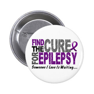 Find The Cure 1 EPILEPSY T-Shirts & Gifts Button