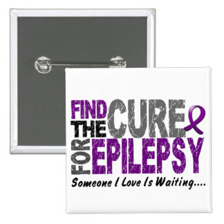 Find The Cure 1 EPILEPSY T-Shirts & Gifts Pin