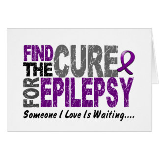 Find The Cure 1 EPILEPSY T-Shirts & Gifts Greeting Card