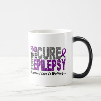 Find The Cure 1 EPILEPSY T-Shirts & Gifts 11 Oz Magic Heat Color-Changing Coffee Mug