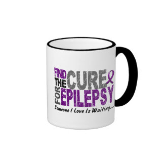Find The Cure 1 EPILEPSY T-Shirts & Gifts Ringer Coffee Mug