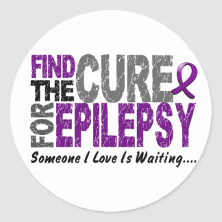 Find The Cure 1 EPILEPSY T-Shirts & Gifts Round Sticker