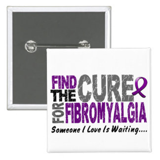 Find The Cure 1 FIBROMYALGIA T-Shirts & Gifts Pinback Button