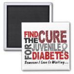 Find The Cure 1 JUVENILE DIABETES T-Shirts & Gifts 2 Inch Square Magnet