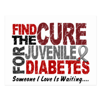 Find The Cure 1 JUVENILE DIABETES T-Shirts & Gifts Postcard