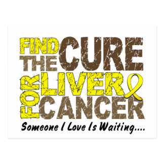 Find The Cure 1 LIVER CANCER T-Shirts & Apparel Postcard