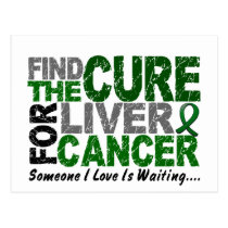 Find The Cure 1 LIVER CANCER T-Shirts & Gifts Postcard