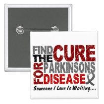 Find The Cure 1 PARKINSON'S DISEASE T-Shirts Button